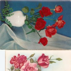 Postales: OTRO LOTE 3 POSTALES DE FLORES. Lote 49752766