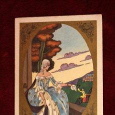 Postales: ANTIGUA POSTAL DE ESTILO ART-DECO. MANUFACTURA ITALIANA. SIN CIRCULAR. Lote 49826397