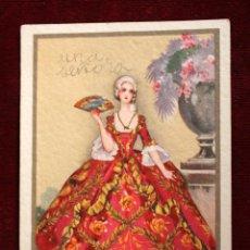 Postales: ANTIGUA POSTAL DE ESTILO ART-DECO. MANUFACTURA ITALIANA. ESCRITA. Lote 49826567