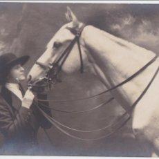 Postales: P-1438. POSTAL AMAZONA Y CABALLO. AÑO 1926.. Lote 49947616