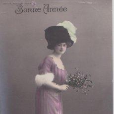 Postales: P- 1651. POSTAL FOTOGRAFICA BONNE ANNEE. 1911.. Lote 50031000