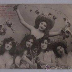 Postales: POSTAL LES BACCHANTES - GRAPPES VERMEILLES - AÑO 1903. Lote 51636281