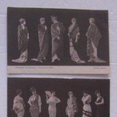 Postales: TRES ANTIGUAS POSTALES MODA: SILHOUETTES PARISIENNES - CLICHES AUSTIN AÑO 1914. Lote 51646751
