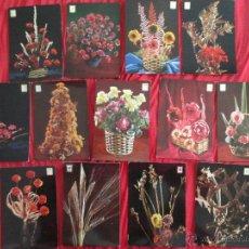 Postales: LOTE 13 POSTALES DE FLORES ESCUDO DE ORO, SIN USO. Lote 54719692