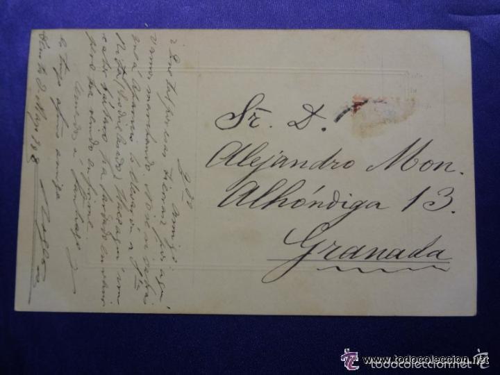 Postales: ANTIGUA POSTAL. PAISAJE NEVADO . ILUMINADA A COLOR. ED. NPG. AÑO 1908. CIRCULADA - Foto 2 - 57100581