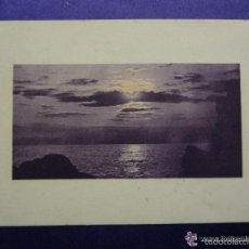 Postales: ANTIGUA POSTAL. ATARDECER . ILUMINADA A COLOR. ED.BRUNNER & C. AÑO 1909. CIRCULADA . Lote 57100601