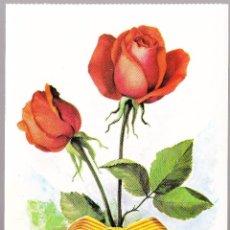 Postales: FLORES ROSAS GRAFICAS BERGAS. Lote 57976333