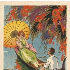 Cartoline: ANTIGUA POSTAL PINTADA ILUSTRADA PRODUCIONE ITALIANA DEGAMI 2145 ESCRITA DIVIDIDA. Lote 58562546