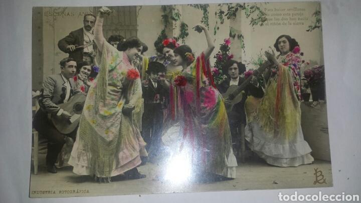 ESCENAS ANDALUZAS- 1 POSTAL FOTOGRÁFICA COLOREADA. INDUSTRIA FOTOGRÁFICA. CIRCULADA 1909 (Postales - Postales Temáticas - Estilo)