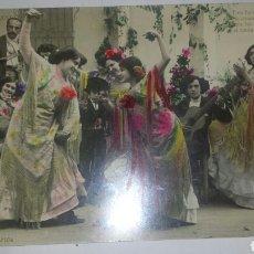 Postales: ESCENAS ANDALUZAS- 1 POSTAL FOTOGRÁFICA COLOREADA. INDUSTRIA FOTOGRÁFICA. CIRCULADA 1909. Lote 65249621