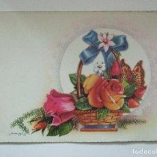 Postales: TARJETA DOBLE - ILUSTRADA POR NIUBO - 16X11 -1962. Lote 67657401