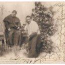 Postales: ANTIGUA POSTAL CIRCULADA 1902 - COLECCIÓN CÁNOVAS SERIE A 7 - MONAGUILLO TRAVIESO - REV SIN DIVIDIR. Lote 74874551