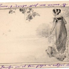 Postales: PS7464 POSTAL MODERNISTA CON FIGURA FEMENINA. M.M. CIRCULADA. 1903. Lote 79215093