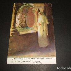 Postales: RAMON CASAS ILUSTRADOR CONTEMPLACION POSTAL 1916. Lote 93823015