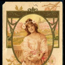 Postales: POSTAL MODERNISTA - EDICION ESPECIAL PARA LA CASA OLIBET - RENTERIA IMPRENTA F. CHAMPENOIS PARIS. Lote 95067719