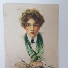 Postales: FOTO POSTAL LONELINESS AÑO 1918, POSTAL LITOGRAFIADA WATER COLOR, SERIES Nº 372. Lote 95606103