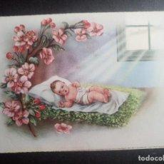 Postales: TARJETA DIPTICO RECUERDO NACIMIENTO AÑO 1952 VALENCIA. Lote 99519627