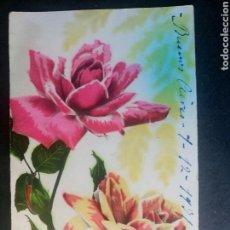 Postales: POSTAL FRANCESA ANTIGUA ROSAS FLORES ESCRITA AÑO 1931. Lote 101494142
