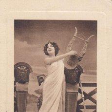 Postales: POSTAL: 1910 MUSA CON LIRA. DEDICADA - ARGELIA / BARCELONA. Lote 102523475