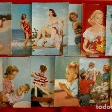 Postales: 12 POSTALES AÑOS 50 - LA MAYORIA C. Y. Z. (6 SIN CIRCULAR Y 6 ESCRITAS). Lote 102778911
