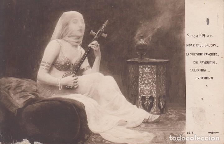 POSTAL: 1914 SALON - LE SULTANE FAVORITE - C. PAUL BAUDRY (Postales - Postales Temáticas - Estilo)
