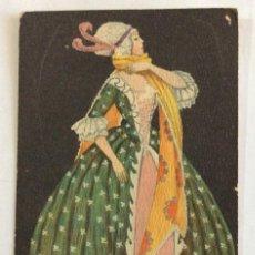 Postales: POSTAL MODERNISTA,ART NOUVEAU, JUGENDSTIL. B.K.W.I. 384-2. SERIE VESTIDOS DE ÉPOCA. MELA KOEHLER.. Lote 103521507