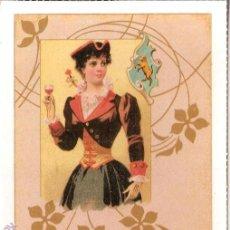 Postales: POSTAL ANTIGUA MODERNISTA - E.ANTALBE - SIN CIRCULAR - REPRODUCCIÓN. Lote 194526941