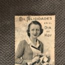 Postales: POSTAL/1213-3 MIL FELICIDADES EN EL DÍA DE HOY (H.1940?). Lote 112775284