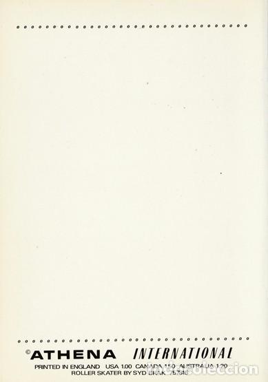 Postales: POSTAL MODERNA ORIGINAL - ROLLER SKATER BY SYD BRAK - ATHENA INTERNATIONAL - INGLATERRA -NUEVA - Foto 2 - 112814619