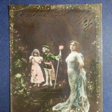 Postales: POSTAL - ESTILO - EDICION ALEMANA - ESCRITA EN 1908. Lote 112917479