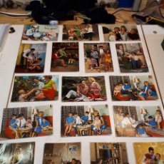 Postales: 17 POSTALES VINTAGE FAMILIAS. Lote 112963335