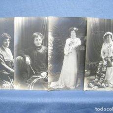 Postales: A.S. XATART. BARCELONA. LOTE 4 FOTO POSTALES MUJERES DE EPOCA. Lote 222305396