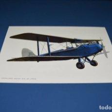 Postales: POSTAL SIN CIRCULAR - DE HAVILLAND MOTH D.H 60 1925 - DIBUJO AVION - EDITA CYZ 6985. Lote 121265143