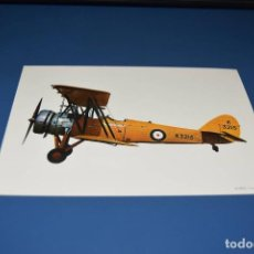 Postales: POSTAL SIN CIRCULAR - DIBUJO AVION - AVRO TUTOR 1931 - EDITA CYZ 6902. Lote 121266027