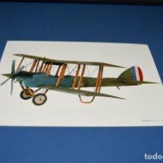 Postales: POSTAL SIN CIRCULAR - DIBUJO AVION - TRAINER D.H6 AÑO 1917 - EDITA CYZ 7014. Lote 121266219