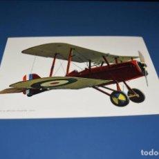 Postales: POSTAL SIN CIRCULAR - DIBUJO AVION - S.E 5A BRITISH FIGHTER AÑO 1917 - EDITA CYZ 7035. Lote 121266643