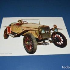 Postales: POSTAL SIN CIRCULAR - DIBUJO COCHE ANTIGUO - HISPANO SUIZA 1918 - EDITA BV P-20138-1. Lote 121270971