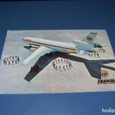 Postales: POSTAL SIN CIRCULAR - IBERIA - AVION DC-10/30 COSTA BRAVA - EDITA ESCUDO DE ORO. Lote 121271359