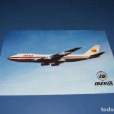 Postales: POSTAL SIN CIRCULAR - IBERIA - AVION BOEING 747 JUMBO - EDITA ESCUDO DE ORO. Lote 121271483