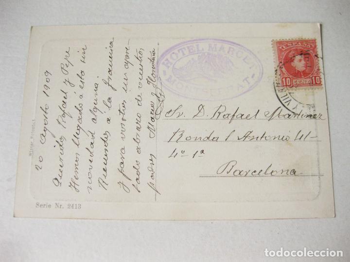 Postales: POSTAL GRABADA O LITOGRÁFICA DE UNA MUJER CON NIÑA CIRCULADA EN 1909 - SERIE Nº 2413 - Foto 2 - 121576847