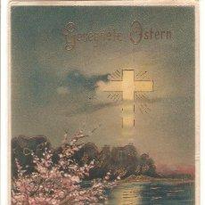 Cartoline: POSTAL ANTIGUA, DIBUJADA, SEMANA SANTA, ALEMANIA, CIRCULADA. Lote 126803159