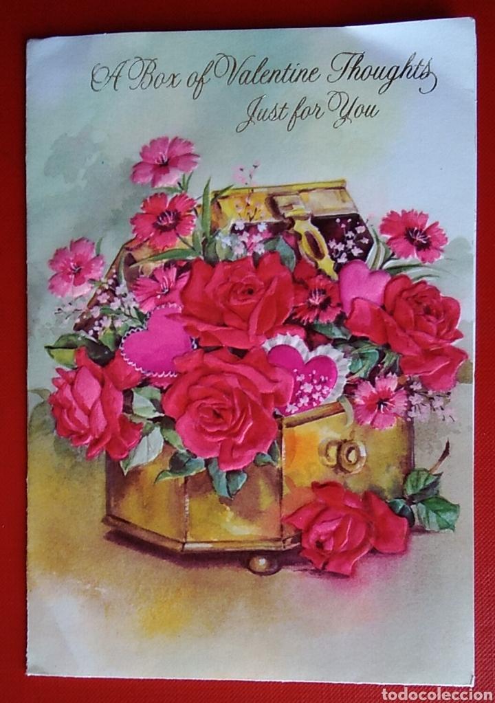 Bonita Tarjeta Felicitación San Valentín Desple Kaufen Alte Stil