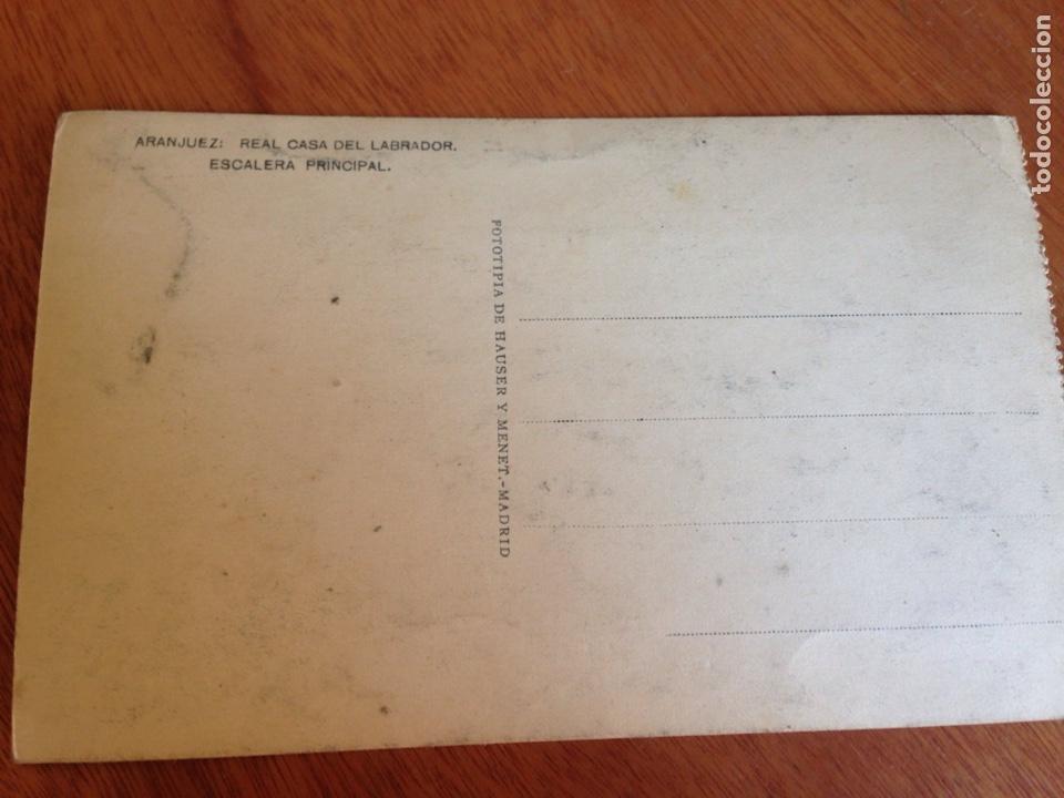 Postales: ANTIGUA POSTAL DE ARANJUEZ : Real casa del labrador, escalera principal - Foto 2 - 138644380