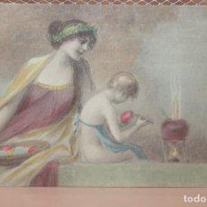 Postales: TARJETA POSTAL ROMÁNTICA COLOREADA. ESCRITA, NO CURSADA. 1907. INFORMACIÓN.. Lote 143198854