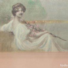 Postales: TARJETA POSTAL ROMÁNTICA COLOREADA. ESCRITA, NO CURSADA. 1907. INFORMACIÓN.. Lote 143198946