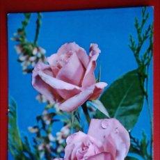 Postales: BONITA POSTAL ROSAS FLORES. Lote 144902362