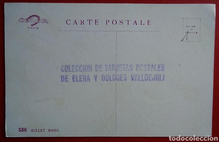 Postales: Postal Francia flores rosa rose - Foto 2 - 151645732