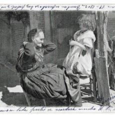 Postales: ANTIGUA POSTAL COLECCIÓN CANOVAS SERIE M Nº 1 MUERTA - HAUSER Y MENET CIRC. 1903 - REV. SIN DIVIDIR. Lote 74878015