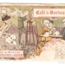 Postales: POSTAL MODERNISTA. CAFÉ DE BORDEAUX. MARIE BRIZARD. IMPO. M.LAAS ET PECAUD PARIS.. VELL I BELL. Lote 166820550