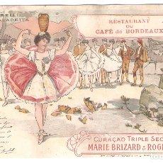 Postales: POSTAL MODERNISTA. CAFÉ DE BORDEAUX. MARIE BRIZARD. IMPO. M.LAAS ET PECAUD PARIS.. VELL I BELL. Lote 166821186